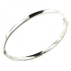 Bracelet Argent fil rectangle 4mm - 60x53mm - CR