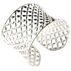 **Bracelet Argent GRILLE Etoile 40 l: 44mm - diametre interieur: 62x55mm
