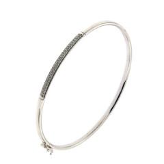 ** Bracelet Argent Jonc Flexible OZ - Rhodié