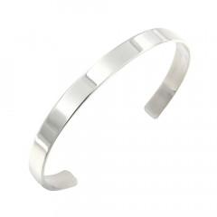 Bracelet Argent Jonc PLAK   6mm