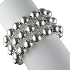 Bracelet Argent EXTENS BOULES D12-3 RANGS