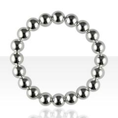 Bracelet Argent ELASTIQUE BOULE D10 sans inter