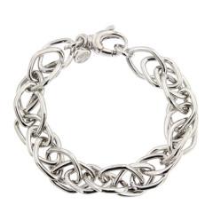 ** Bracelet Argent LOSANGE Torsadé L: 19cm - l: 12mm