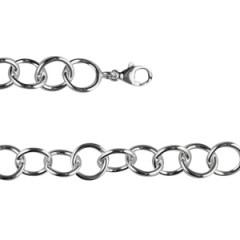 ** Bracelet Argt CH CercleE FR L : 20,5 cm - l : 1 cm