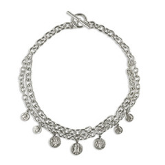 Collier Argent DUCA DOUBLE RANG/7 PP 1F/BARRET