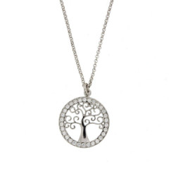 collier arbre de vie Argent 925 et Oxyde