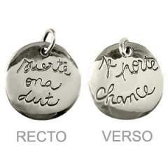 """Médaille Argent """"GRAFFITI"""" GM SUERTE ONA DUT"""