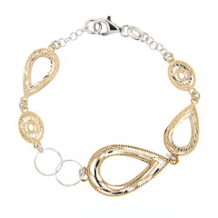 Bracelet ARGENT SARA Bicolore L: 18,5cm - l: 18mm
