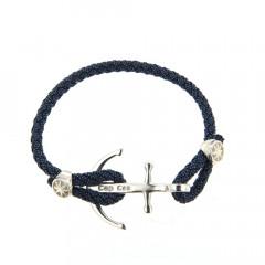 Bracelet Argent CAP COZ Ancre DENIM Bleu