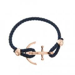 Bracelet Argent CAP COZ Ancre DENIM Noir - Rose