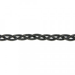 Bracelet Argent GRAPHIT Tresse 21cm