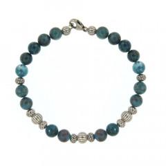 Bracelet Argent ANTIKA D8 Apatite -  22cm