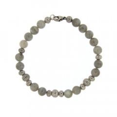 Bracelet Argent ANTIKA D8 Labradorite -  22cm
