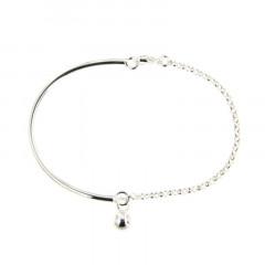 Bracelet Argent CHAKRA Semi-articulé FR20 - Boule 6