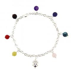 Bracelet Argent CHAKRA LES 7 - Bouddha - 7 multi