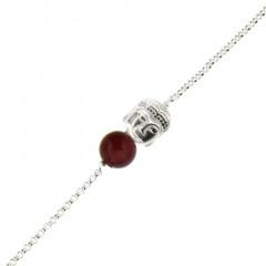 Bracelet Argent CHAKRA N°1 - Bouddha/Oeil de tigre taureau 18+2cm