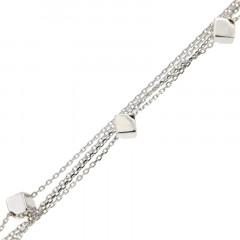 Bracelet Argent Multifils CUBES 17+3cm