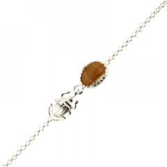 Bracelet Argent KHEOPS / Scarabée Oeil de tigre 16+2,5cm