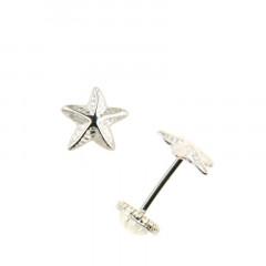 Boucles d'oreilles ETOILE DE MER Argent - Vis
