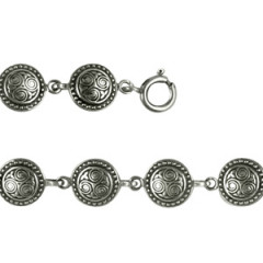 Bracelet Argent TRISKELL ROND PERLE PM
