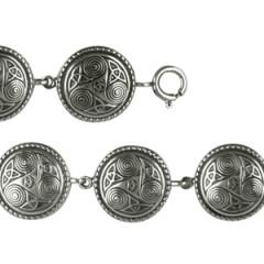 Bracelet Argent TRISKELL ROND PERLE GM