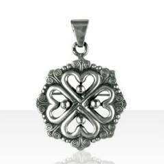 "Médaille Argent COEUR 4 BOULES ""BREITZ BEPRED"""
