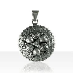 Médaille Argent 3 COEURS/TRISK ENTOUR SPIRALE