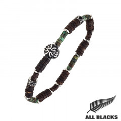 Bracelet TIBETAIN COCO & TURQUOISE AFRICAINE ALL BLACKS