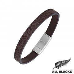 Bracelet CUIR GRAVE MAORI ALL BLACKS