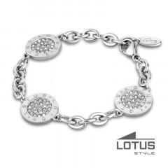 Bracelet medaille Cristaux Acier LOTUS STYLE Bijoux