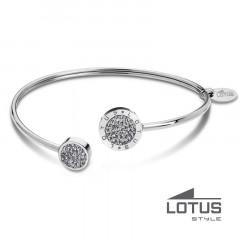 Bracelet rigide Disque Cristaux/Acier LOTUS STYLE Bijoux
