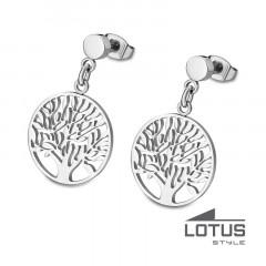Boucles d'oreilles ARBRE DE VIE Acier LOTUS STYLE Bijoux