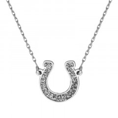 Collier Fer à cheval Or blanc 750°°°- 42cm