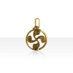 Médaille Or TREFLE à FLEURS 2