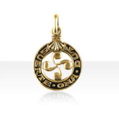 Médaille Or Croix BASQUE SUERTE ONA DUT