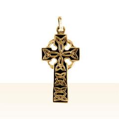 Croix Or CELTIQUE ENTRELACEE