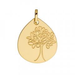 Médaille Goutte ARBRE DE VIE Or jaune 750°°°