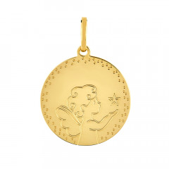 Médaille Rond ANGE ETOILE Or jaune 750°°°