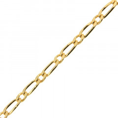 Chaine Plaqué Or Alternée 100 -1/1 - 50cm