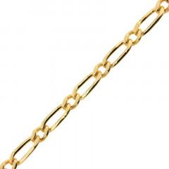 Chaine Plaqué Or Alternée 120 -1/1 - 50cm