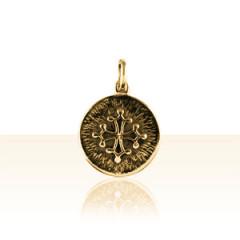 Médaille Plaqué Or FOND STRIEE CROIX OCCIT AJOUR