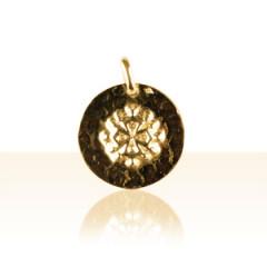 Médaille Plaqué Or MARTELEE RONDE OCCIT 2