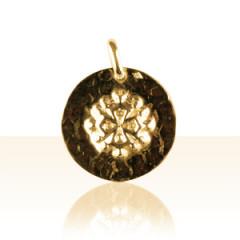 Médaille Plaqué Or MARTELEE RONDE OCCIT 3