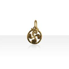 Médaille Plaqué Or TREFLE A FLEURS 1