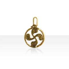 Médaille Plaqué Or TREFLE A FLEURS 2