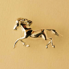 Pin's Plaqué Or CHEVAL GM