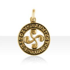 Médaille PLaqué Or CB VENEZ AU PAYS BASQUE