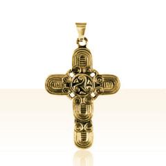 Croix Plaqué Or TRISKELL HIBOU
