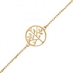 Bracelet Arbre de vie Plaqué Or - Bijoux femme