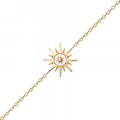Bracelet Rose des vents Plaqué Or Nacre Oz